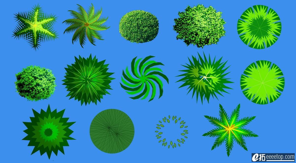 若干PS素材 分析图标 植物素材等等 ,PSD文件下载