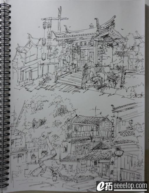 大一下学期的钢笔画 美术课开了速写课
