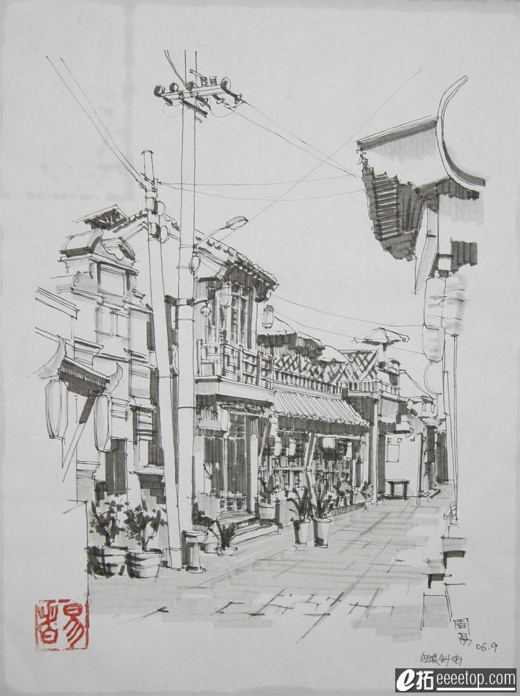 2006中国手绘建筑画大赛 - 大学生设计广场 - e拓建筑