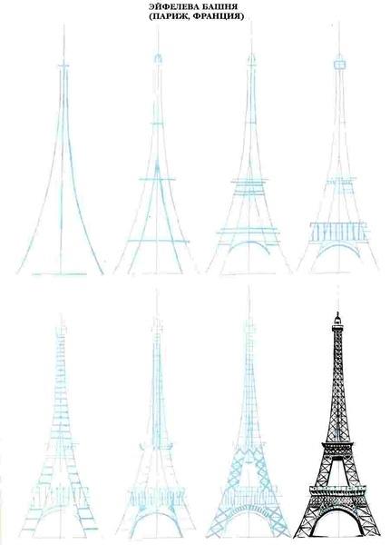世界著名建筑简单传神的画法 - 传统三剑客 - e