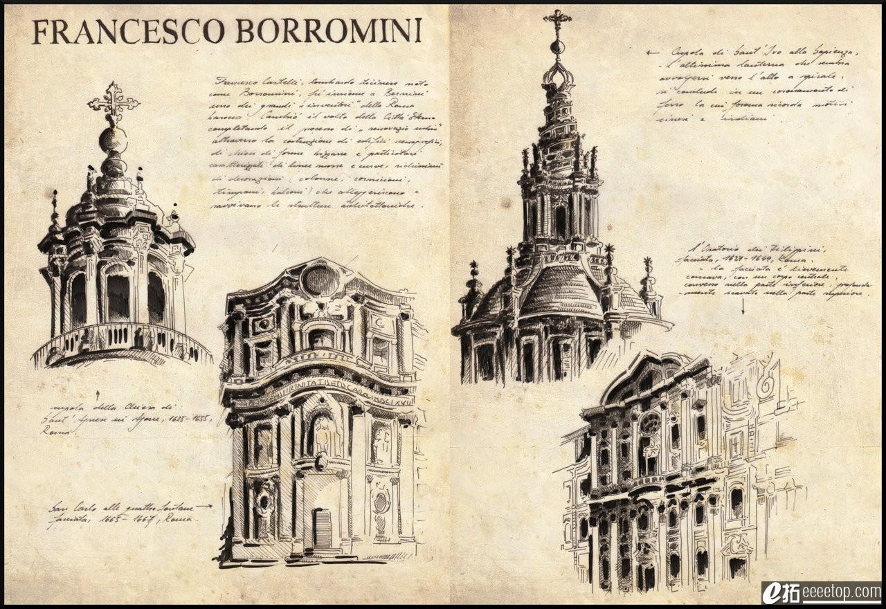 一个意大利帅哥的建筑手绘(如何利用手绘