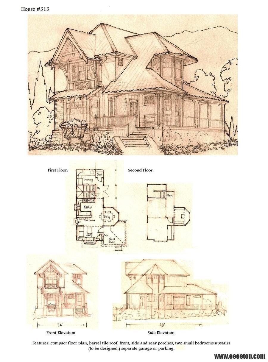 房屋设计手绘平面图