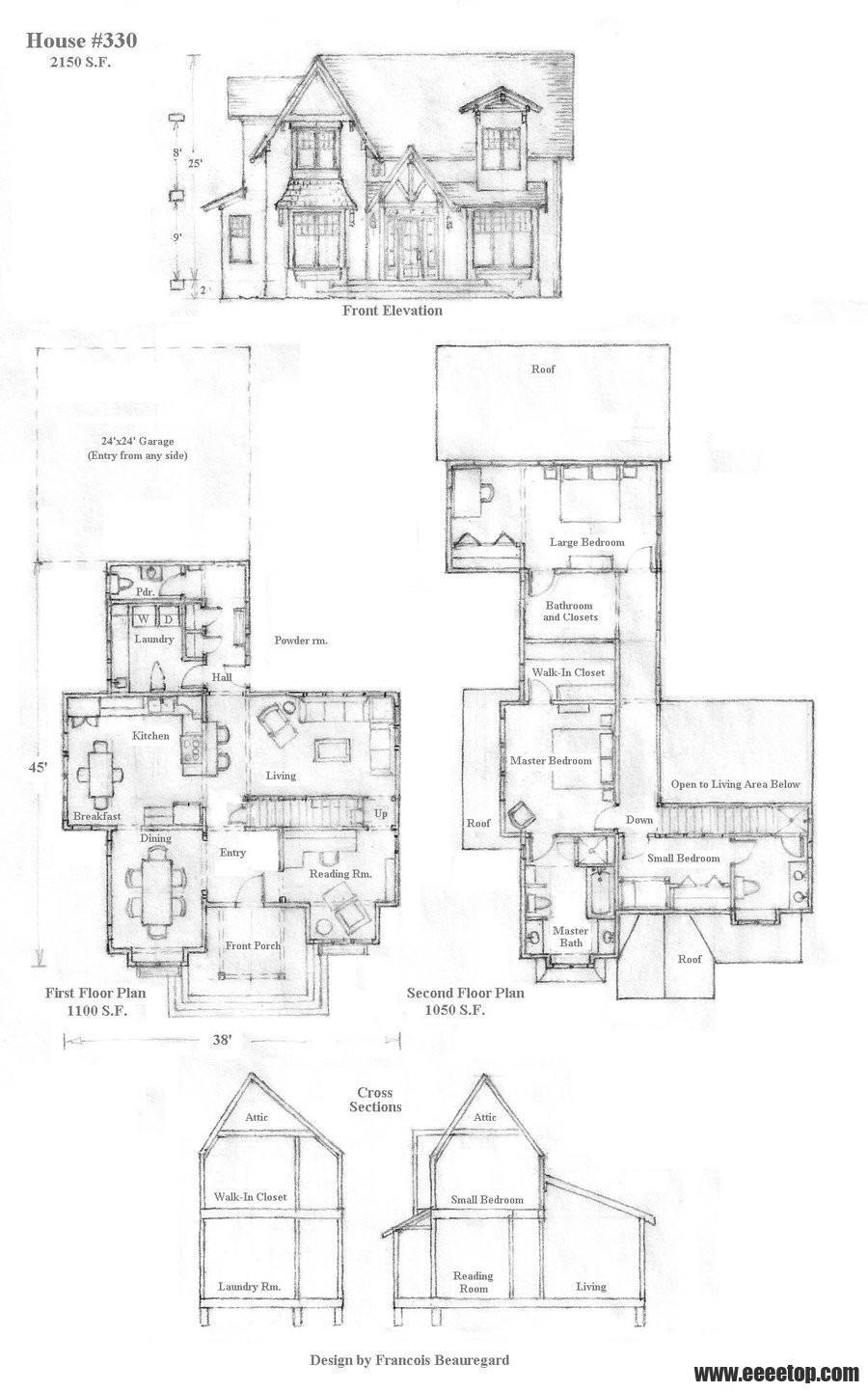 美国图纸设计师FrancoisBeauregard的方形手8.5方案住宅口金图片