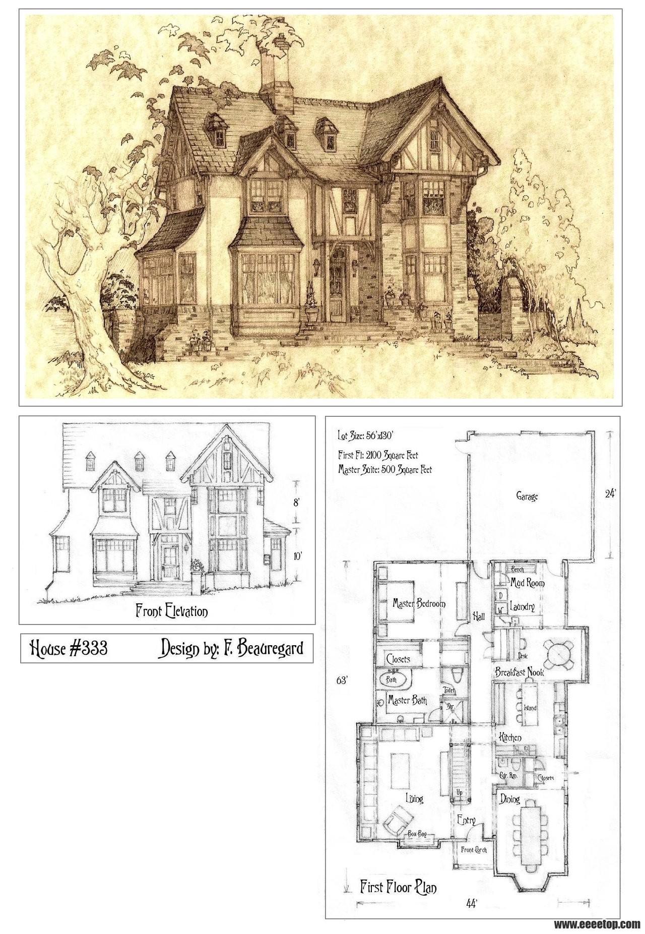 美国住宅设计师FrancoisBeauregard的图纸手折叠方案国家标准图片