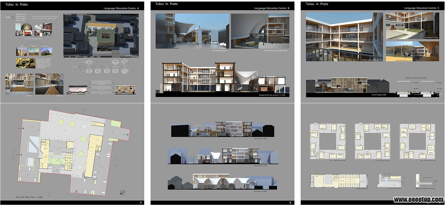 六张a1合三张a0大图的排版方式 高清图片