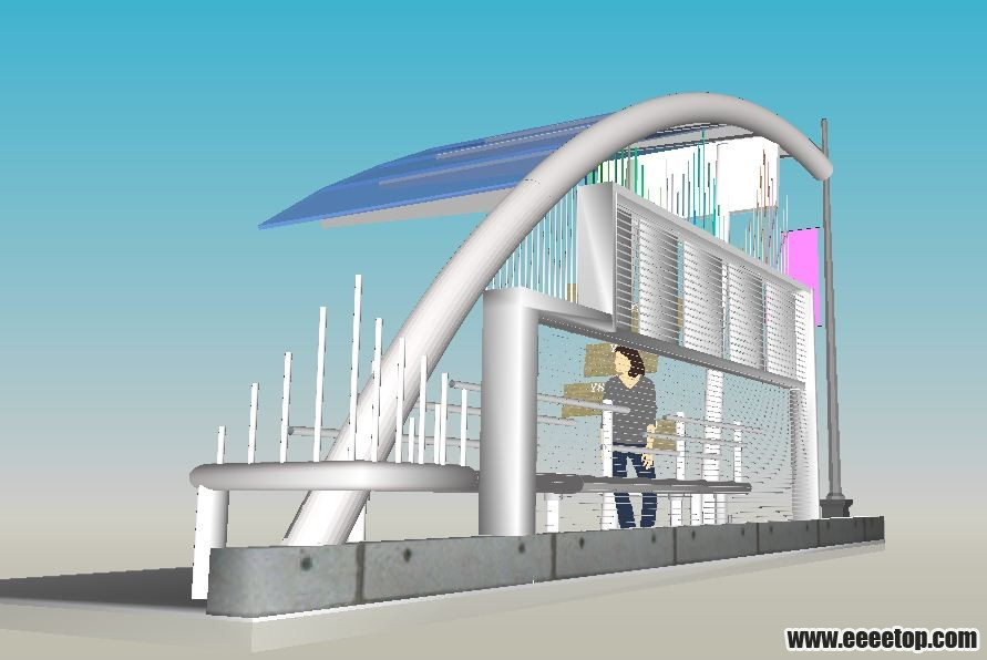 su建的一个轻巧的公交车站