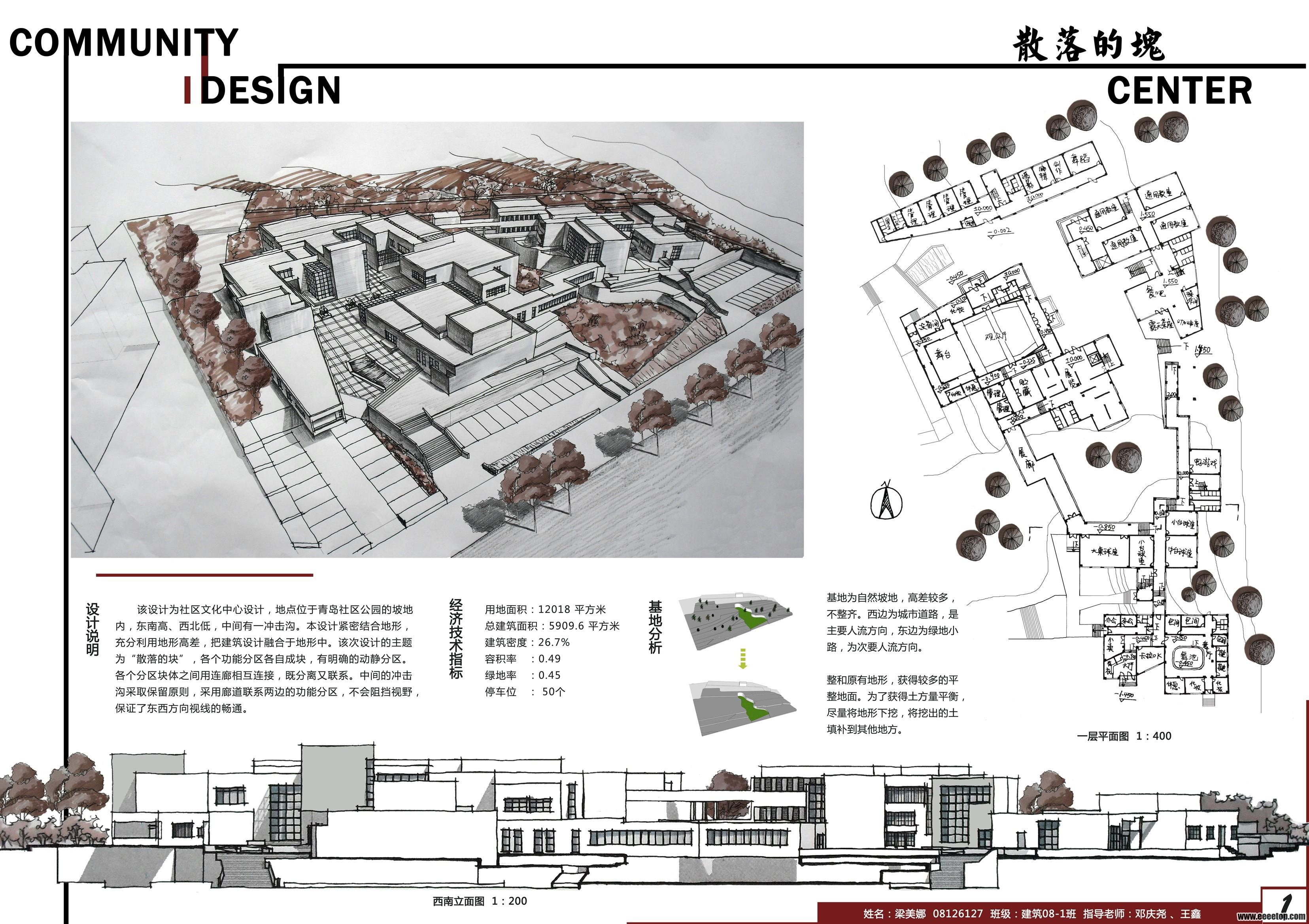 兩周的快題設計-社區活動中心