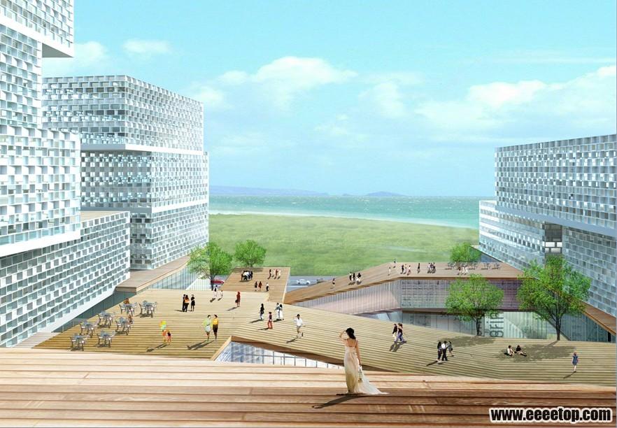 发两个阿里巴巴总部大厦设计方案文本 建筑师工作联盟 e拓