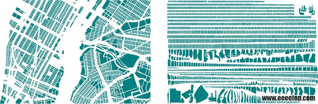 城市肌理 很好的拆分
