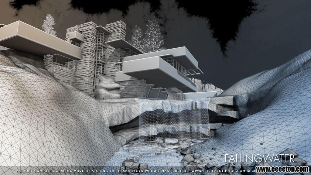 莱特流水别墅3d解析(2)