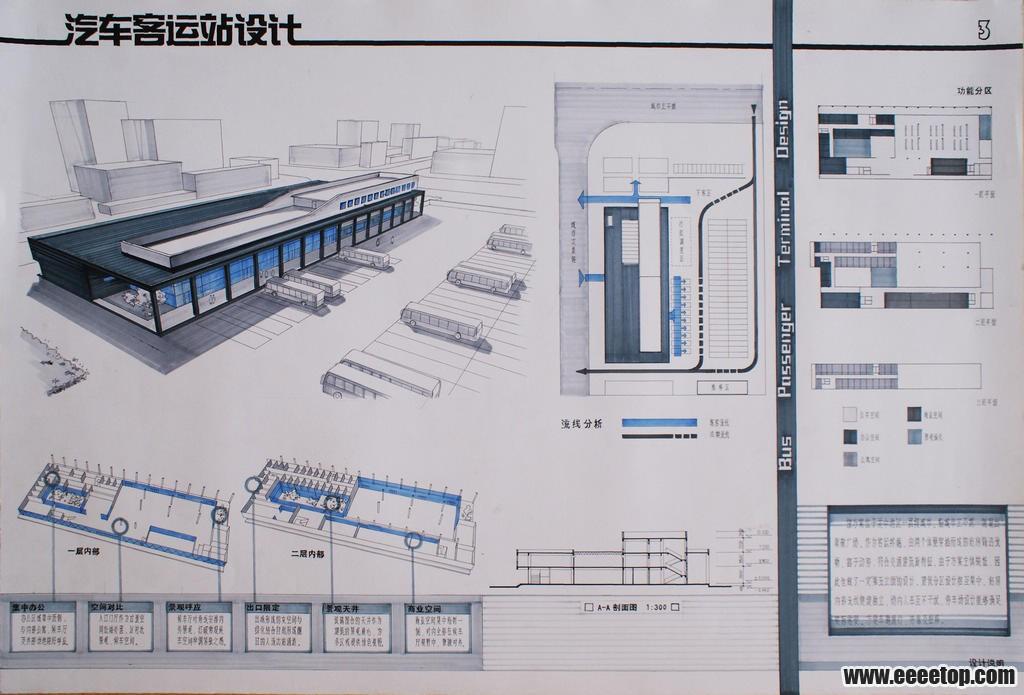 汽车客运站设计 - 大学生设计广场