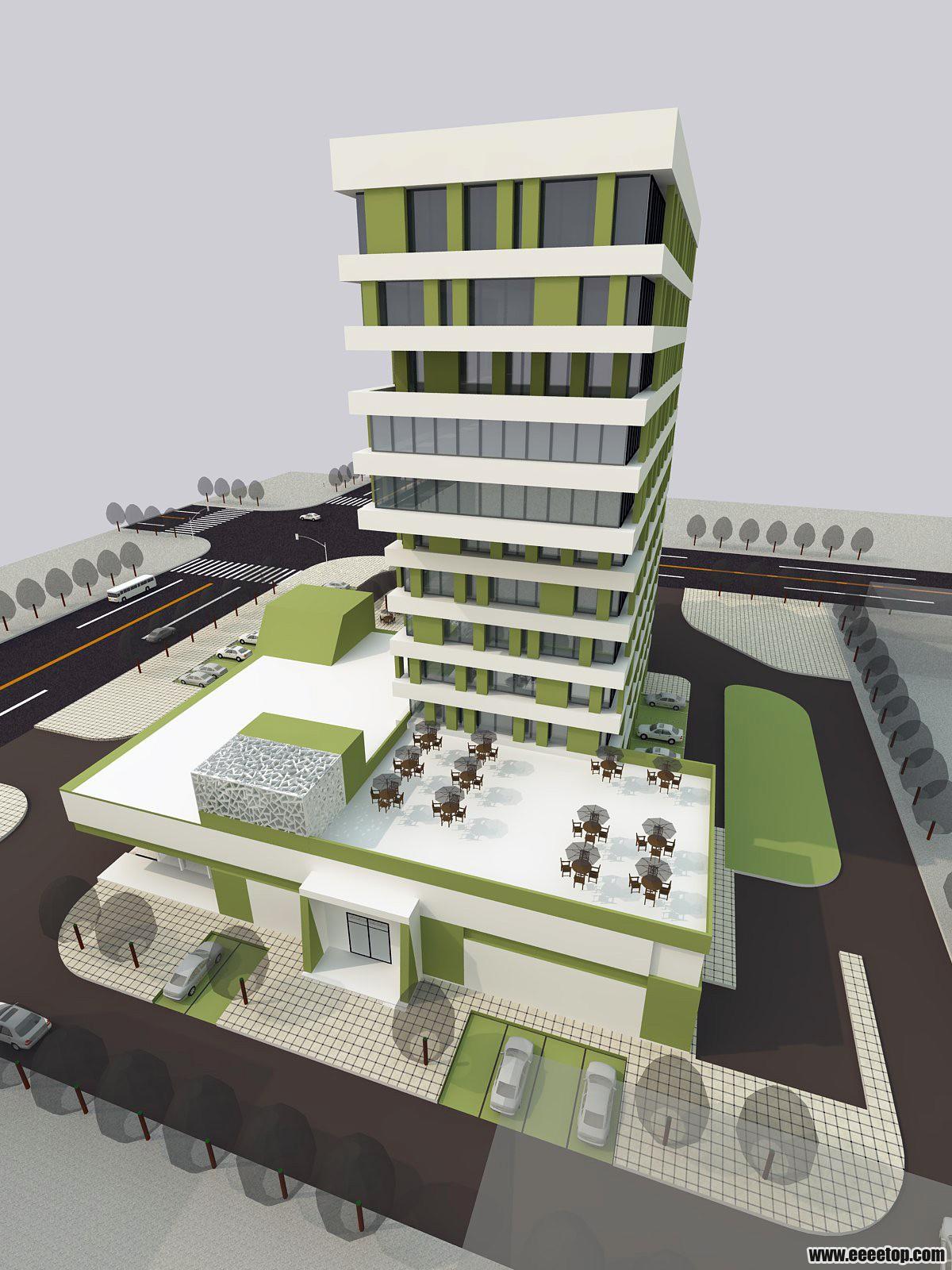 办公楼设计 高层办公楼设计 办公楼设计效果图