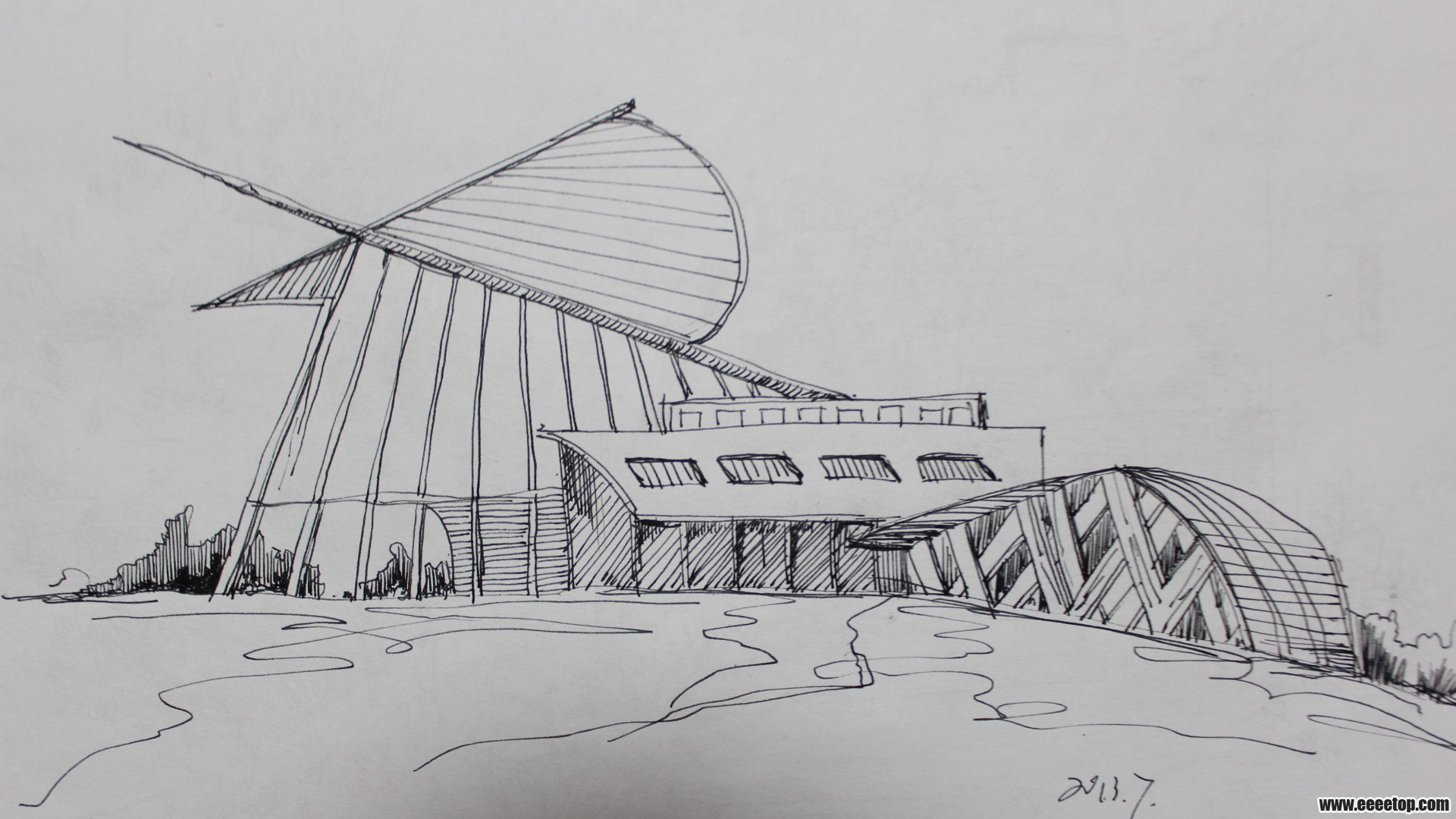 【暑假作业】手绘 主要是现代建筑