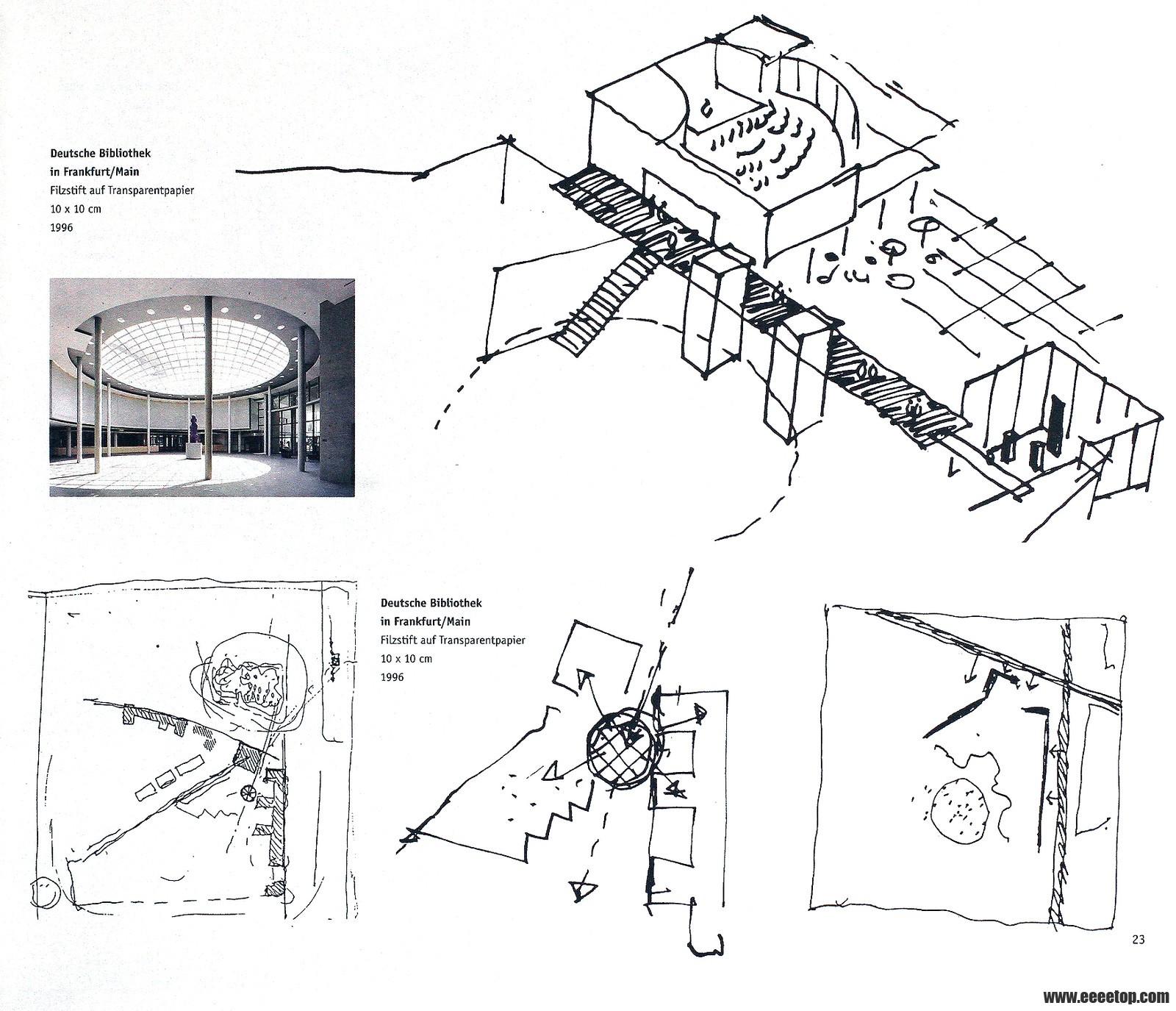 二楼立面图手绘图片