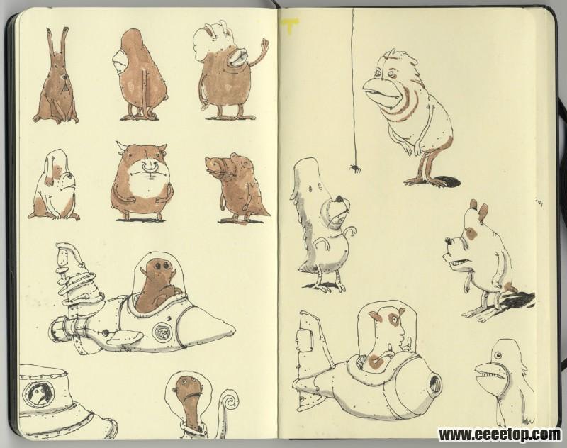 国外牛人手绘速写 - 艺术创意馆