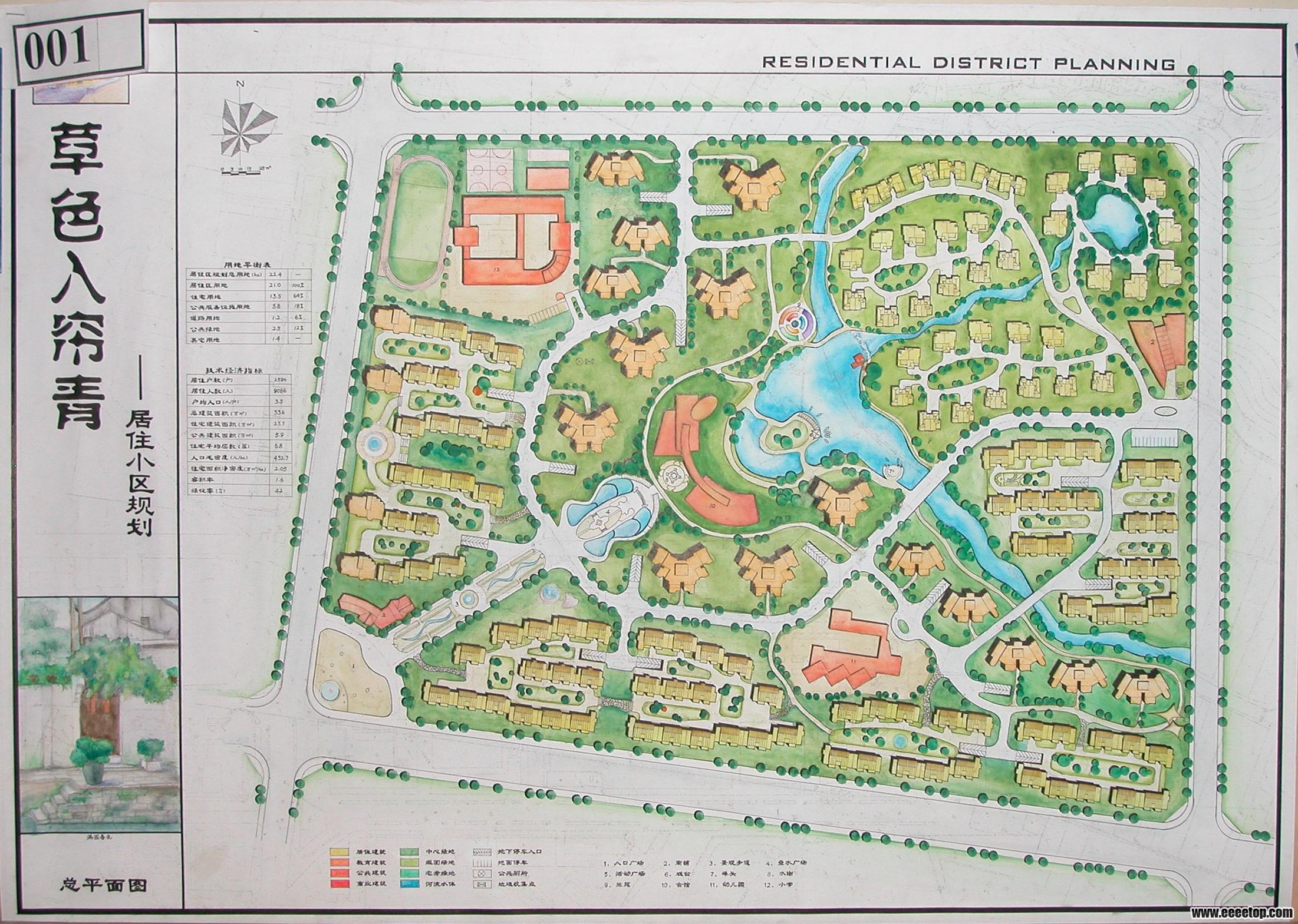 校园广场设计平面图手绘图