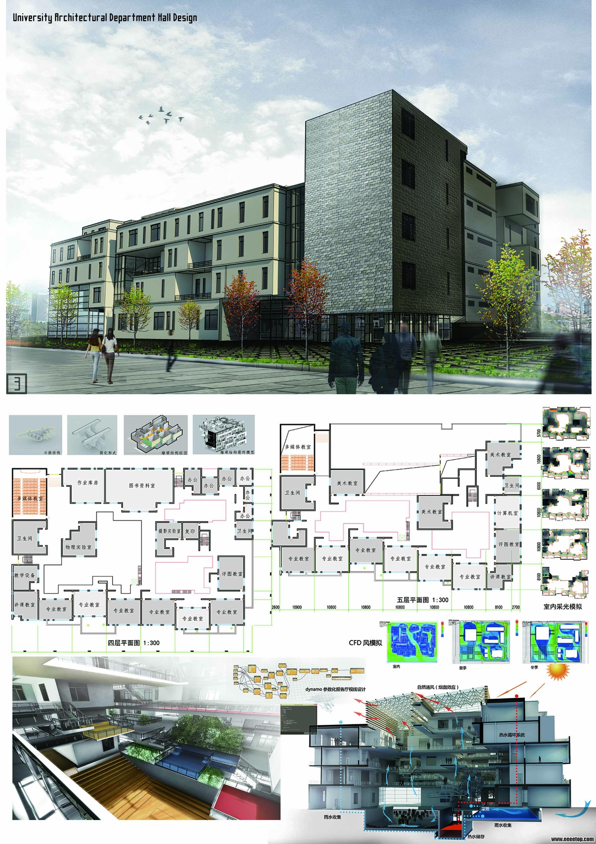 2014revit杯建筑系馆设计作品