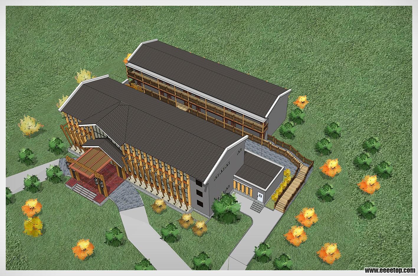 木结构会所建筑