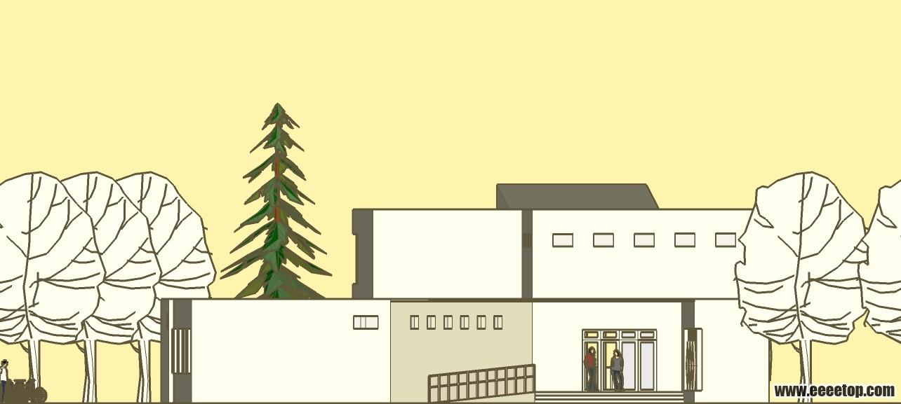 大二 公園休息驛站設計(茶室設計) - 大學生設計廣場