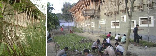 """后续项目:""""手工砌筑学校""""从建筑"""