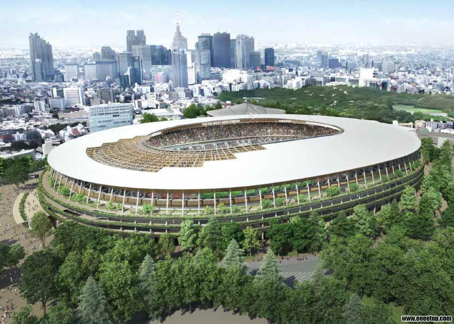 隈研吾击败伊东丰雄赢得日本国家体育场设计竞赛