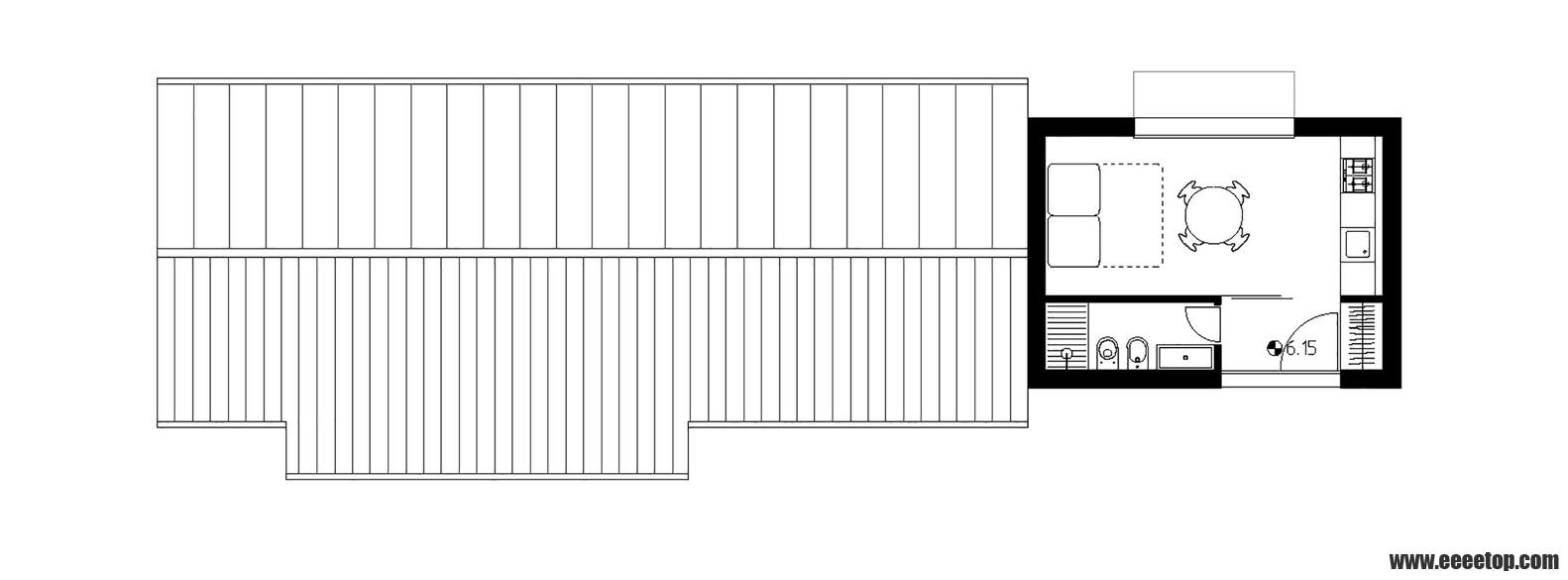 木屋顶和45度梁的屋顶)
