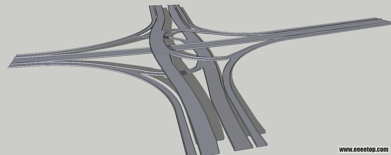 su坡度道路与立交桥的一种建模方法