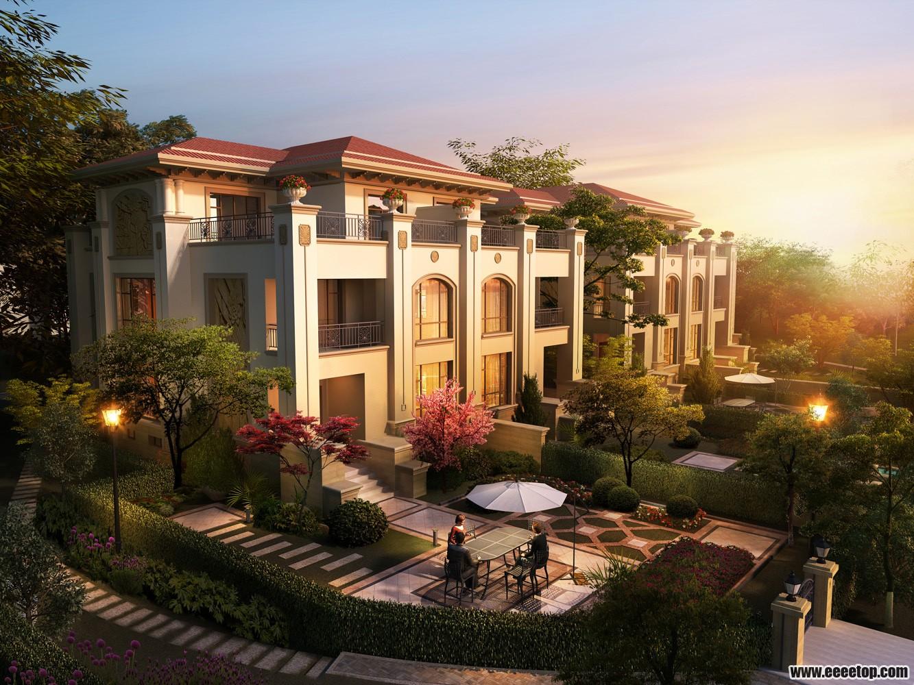 得借鉴的 住宅建筑 别墅 多层及小高层效果图
