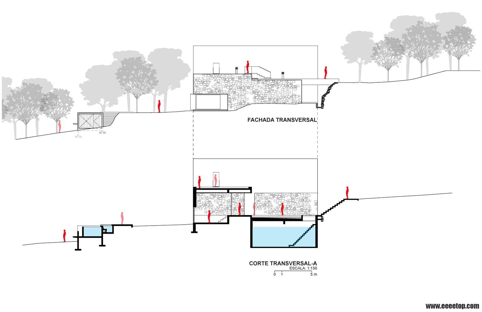 原文标题:Casa Meztitla / EDAA 墨西哥房子Casa Meztitla是对自然场景的一种干预,它展现了休闲的奢侈价值:热带天气、浓烈的阳光、大自然的味道,超过500多年的景观露台和永远存在的岩石山:El Tepozteco。它本身就自成语境。这个房子,建立在粗糙的石头上,低隐在繁茂的树木下,与覆盖着植被的石头斜坡对齐。它在自然空间中创造了一个纯粹的空间。它有一个内向的生活空间,却不断向周围环境开放。只有两个元素向外部世界揭示其存在:丰富多彩的簕杜鹃花隐约地呈现在茂密的树叶间,这标志着该生
