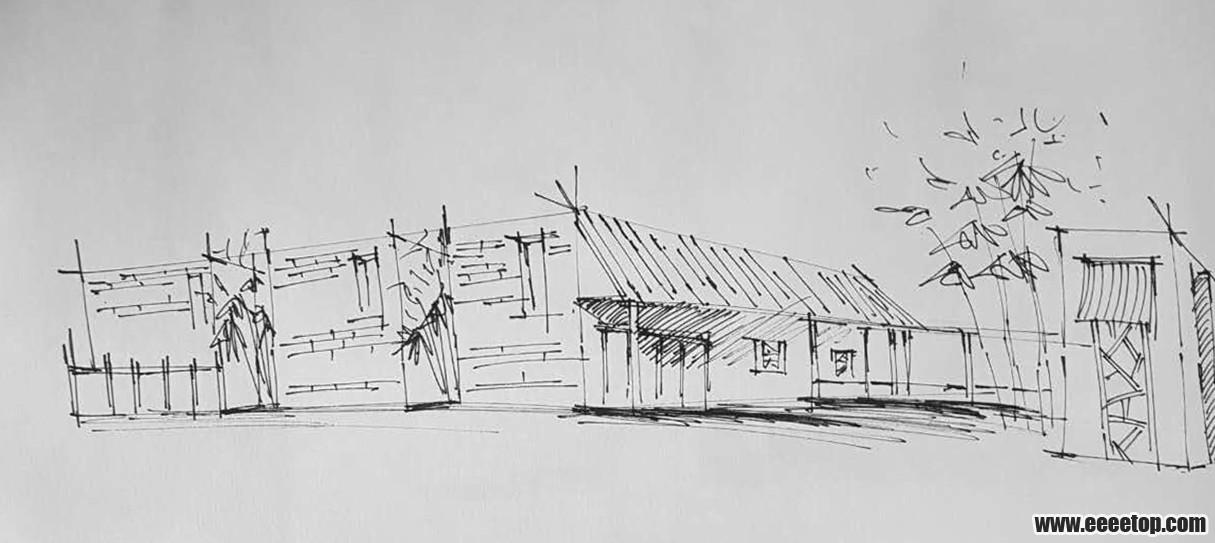 又到临摹的钢笔画练习 专业大杂烩 E拓建筑网 中国最贴近建筑学子与